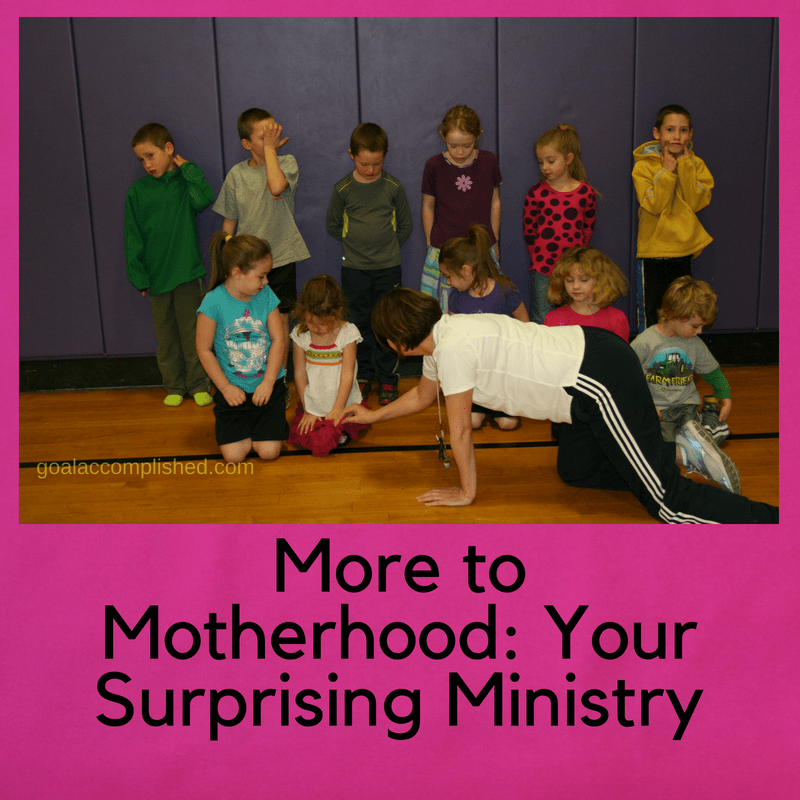 Are you looking for ministry? There are a lot of opportunities within motherhood for ministry