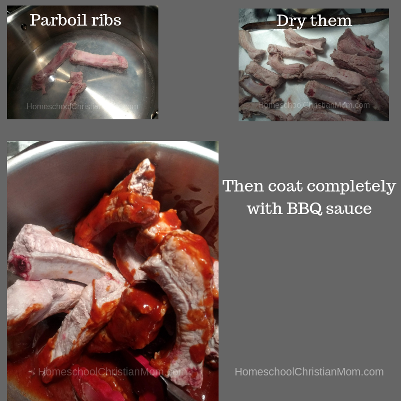 Homeschool Christian Mom recommends a quick parboil